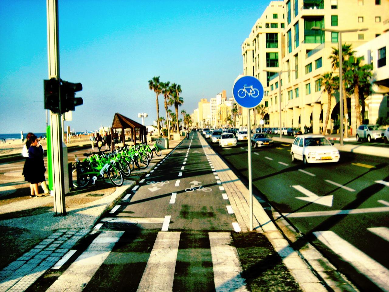 Cycle track Tel Aviv