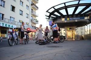 Plac Wilsona; Graffiti; Architecture; Tour De Varsovie; Zoliborz stage; Bicycle touring in Warszawa