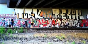 Graffiti; Architecture; Tour De Varsovie; Zoliborz stage; Bicycle touring in Warszawa