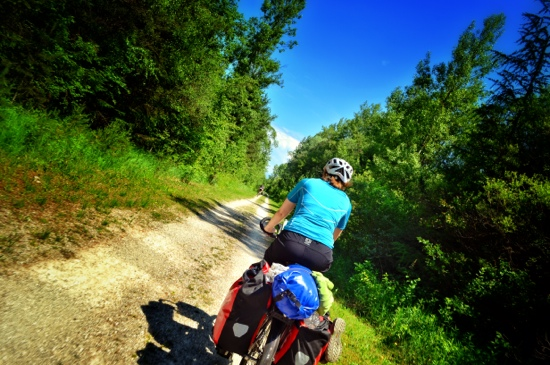 bicycle touring the drauradweg Drava river trail in Austria and Slovenia
