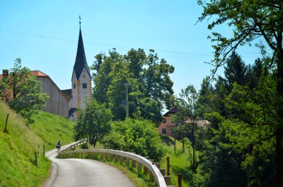 Drava river trail in Slovenia can be a bit hilly