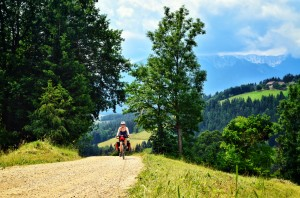 bicycle touring slovenia; two wheel travel; bicycle friendly hotel; gravel road bicycle touring