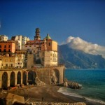 Bicycle touring the Amalfi Coast. Two Wheel Travel - Southern Italy Winter Bicycle tour.