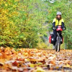 Autumn bike touring; czech republic, Decin, elberadweg; cycling in europe, bicycle travel
