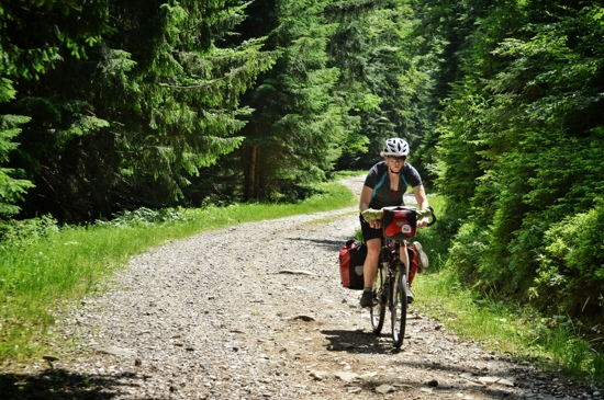 Gravel road bicycle touring, Slovenia, twos wheel travel