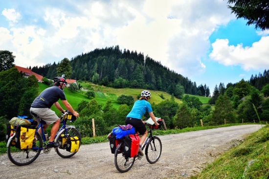 Bicycle touring, Slovenia, alps, gravel road bicycle touring, Maribor, two wheel travel