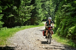 Gravel road bicycle touring: Slovenia