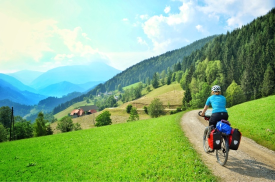 Two Wheel Travel bicycle touring the Koroska foothills in Slovenia