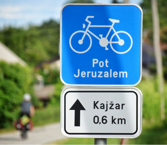 Rural roadways used as bike routes attract more tourism, like Pot Jeruzalem in Slovenia