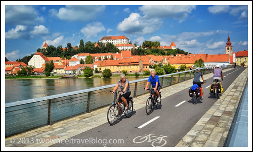 Bicycle Bridge in Ptuj, Slovenia; Two Wheel Travel