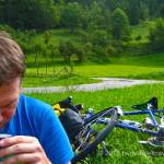 bicycle camping and coffee