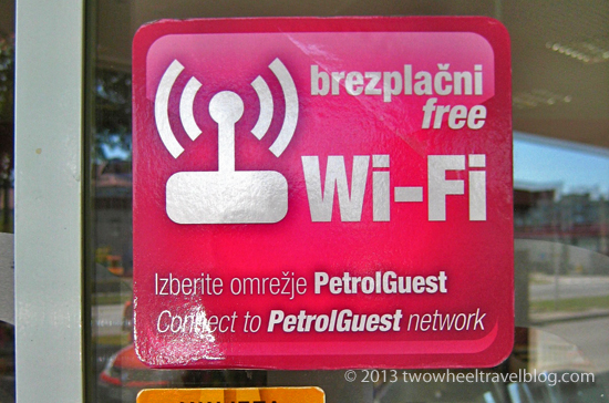 free wifi at slovenia petrol stations