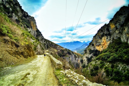 Bicycle Touring Albania. Rough Roads and beautiful scenes from Leskovik to the Lumi Vjosa River