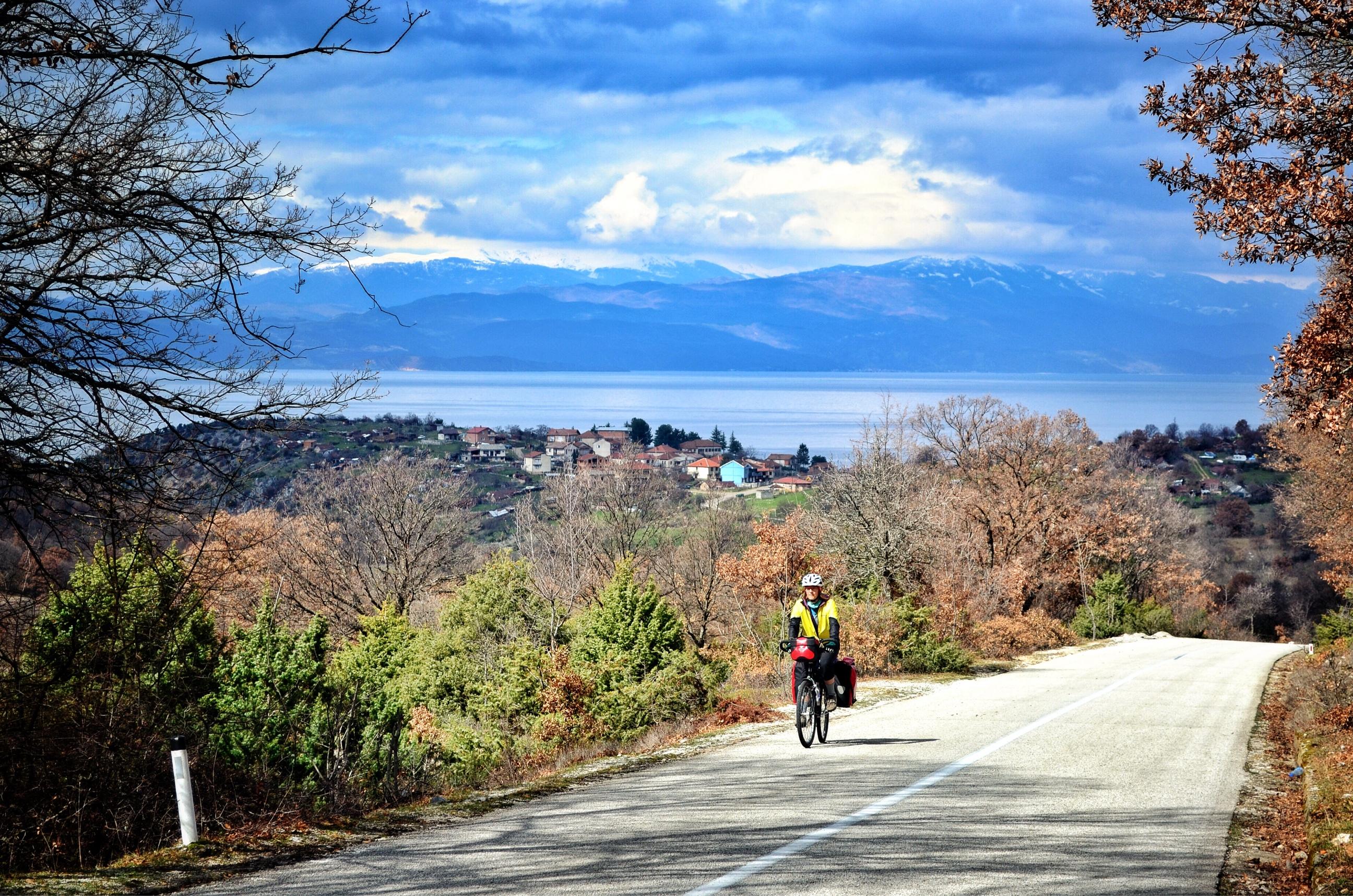 Bicycle touring from Lake Ohrid Macedonia into Albania