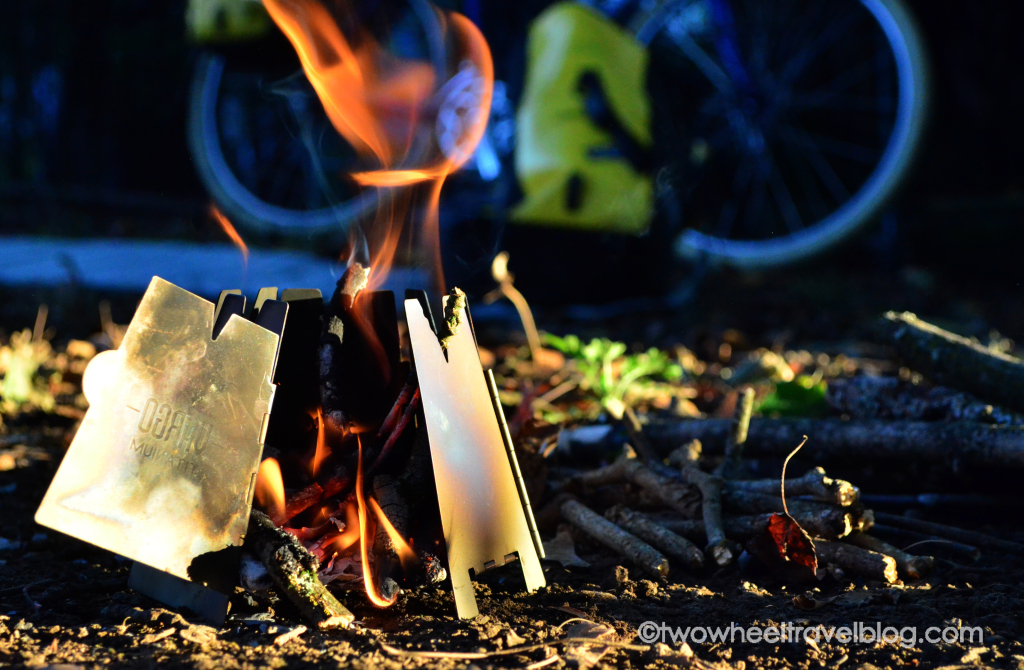 Vargo Titanium Hexagon Wood Stove is a compact elegant solution for ultra light bikepacking and multi-day bicycle touring